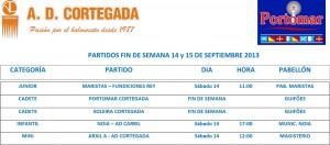 HORARIO DE PARTIDOS1415092013